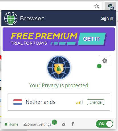VPN для браузера