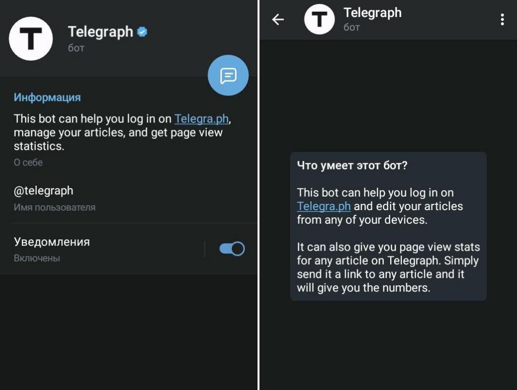 Полезные боты телеграм