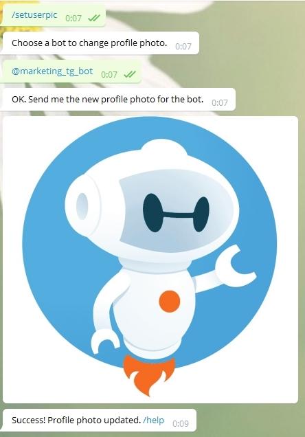 Добавления аватарку для бота