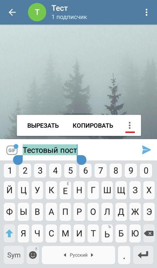 посты в телеграм через форматирование в мессенджере