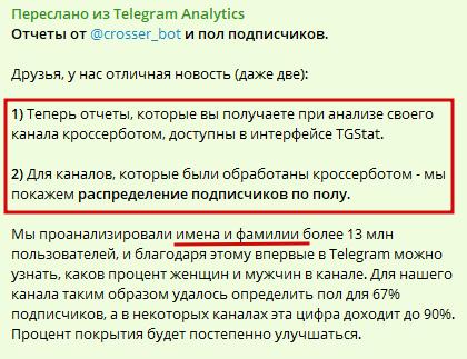 пол подписчиков в телеграм