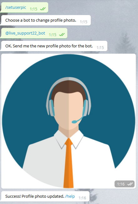 Добавляем боту аватарку
