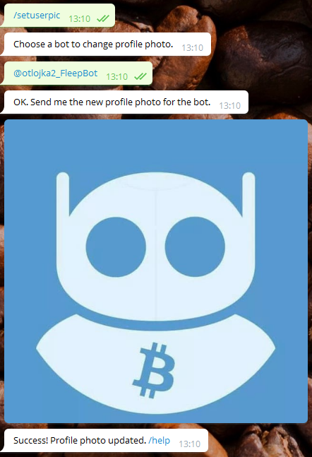 Добавляем аватарку боту