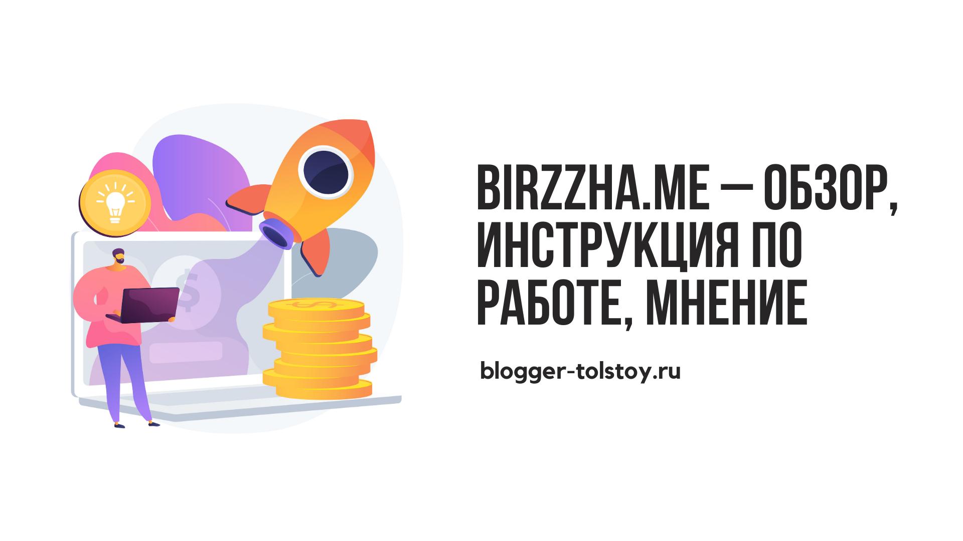 Birzzha.me – обзор, инструкция по работе, мнение